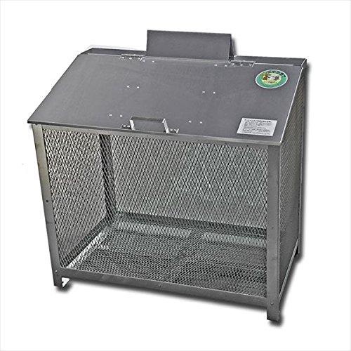 サステック ゴミ収納BOX ワンニャンカア BH-90  『ゴミ袋(45L)集積目安 5袋、世帯数目安 4~5世帯』『ゴミ収集庫』『ダストボックス ゴミステーション 屋外 ステンレス』 B077S98CPK