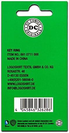 Logoshirt Green Lantern Logo Key-ring Porte-cl/és DC Comics Porte-cl/és La Lanterne verte Logo color/é Design original sous licence
