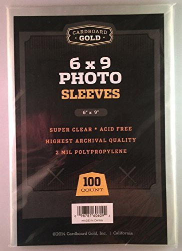 100 CBG 6x9 Photo / Lithograph / Print Sleeves - Archival Quality Protection for Your Photos Litho and Prints