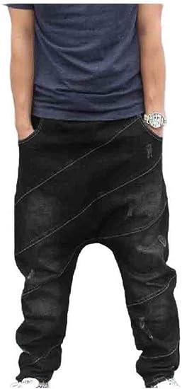 sayahe Mens Denim Juniors' Relaxed-Fit Tapered Big & Tall Denim Pants