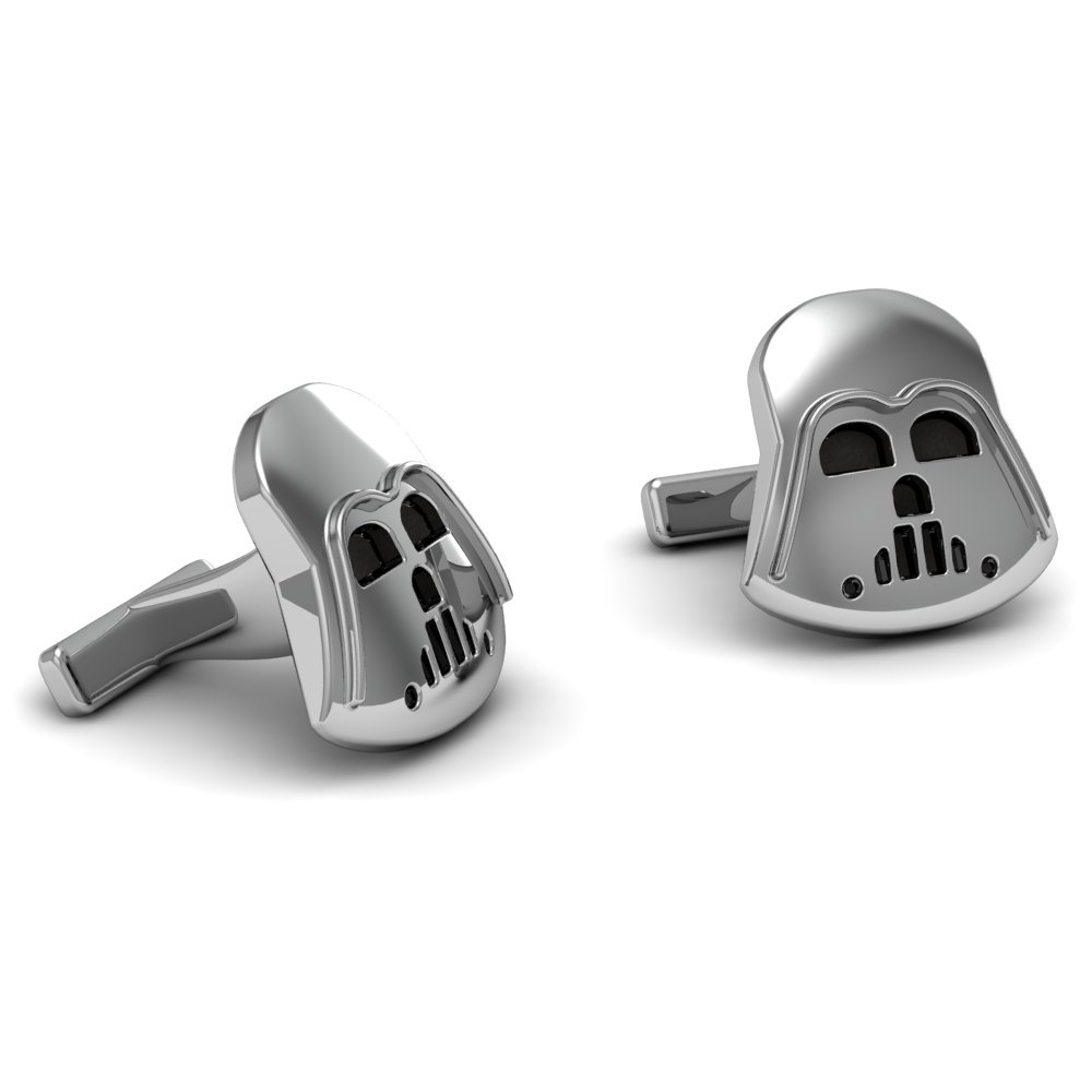 The Best Star Wars .925 Sterling Silver Darth Vader Cufflinks.
