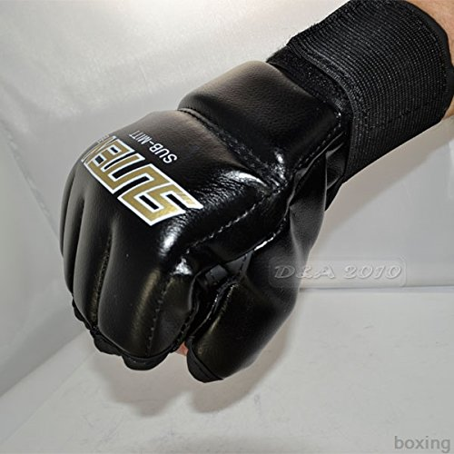 Generic Muay Thai Training Punching Bag Training Speed Mitts Boxing Gloves Black (Punch Generic)