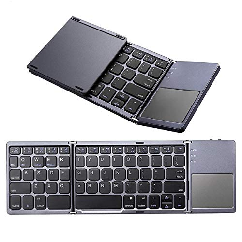 001ecc0999b Bluetooth Foldable Keyboard, M.Way Ultra Slim Tri-fold Wireless Portable  Keyboards with