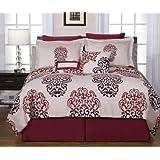 Pointehaven 12-Piece 100-Percent Cotton Luxury Bedding Ensemble, Cherry Blossom, Queen