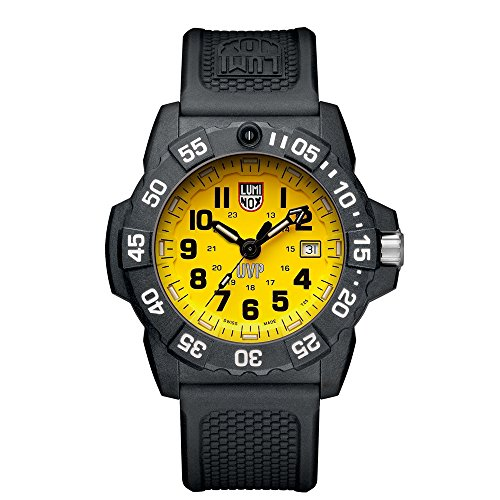 Luminox Men's 'SEA' Swiss Quartz Stainless Steel and Rubber Casual Watch, Color:Black (Model: ()