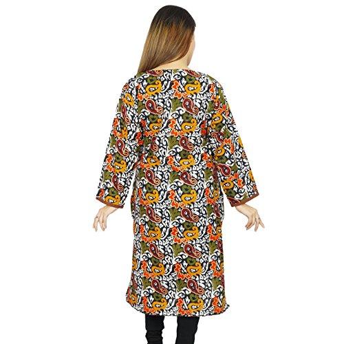 Diseñador indio de Bollywood Impreso étnico Kurti Casual Túnica Vestido regalo para las mujeres Multicolor