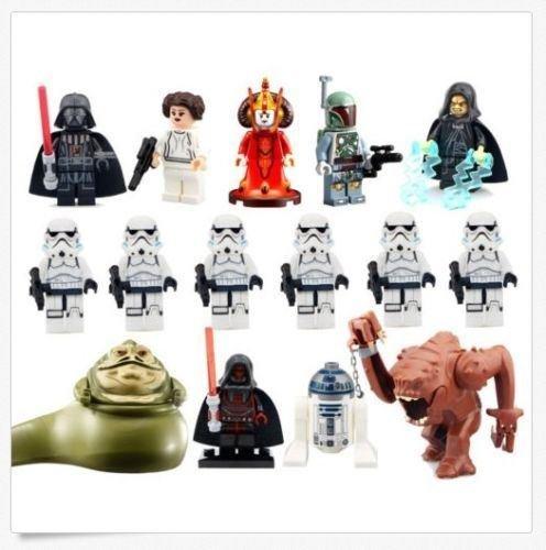 15Pcs-Minifigure Blanc beast Boba Fett Amidala Queen Jabba Darth
