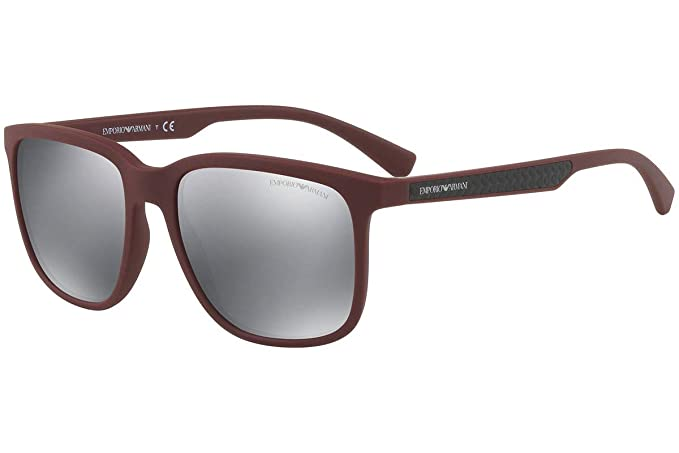 Emporio Armani EA4104 Gafas de Sol de Rojo Vino con Lentes ...