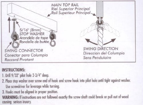 Backto20s Swing Hardware : Set of Two Screw Hook Anchors with Pulley Hangers for Wooden Frame / Ceiling by Back to 20s (Image #1)