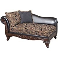 Serta Upholstery 7685FRCHS 7685FRCHS08 Traditional Style Chaise in Sanmar, Ebony