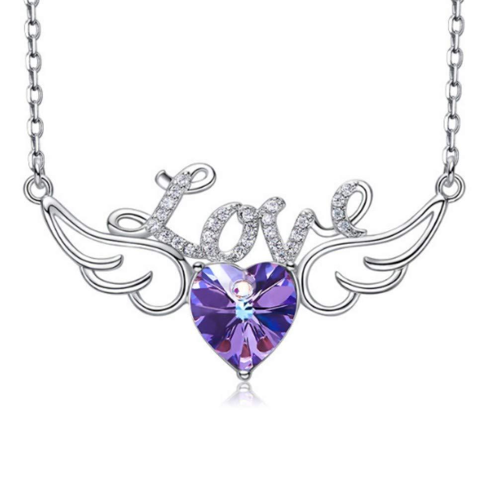 卸売 QWERST女性ネックレススターリングシルバーエンジェルウィングペンダントファッション絶妙なネックレス最高の贈り物A B07MT4DRP9 B07MT4DRP9, ASTUTE:a0f246dc --- a0267596.xsph.ru