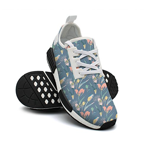 Basketball Shoes Lightweight Floral Breathable Simple Fashion Mesh Sneakers Abstract Sneakers Womens Tulips v5YxqOp