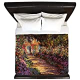 CafePress - Pathway At Giverny - King Duvet Cover, Printed Comforter Cover, Unique Bedding, Microfiber