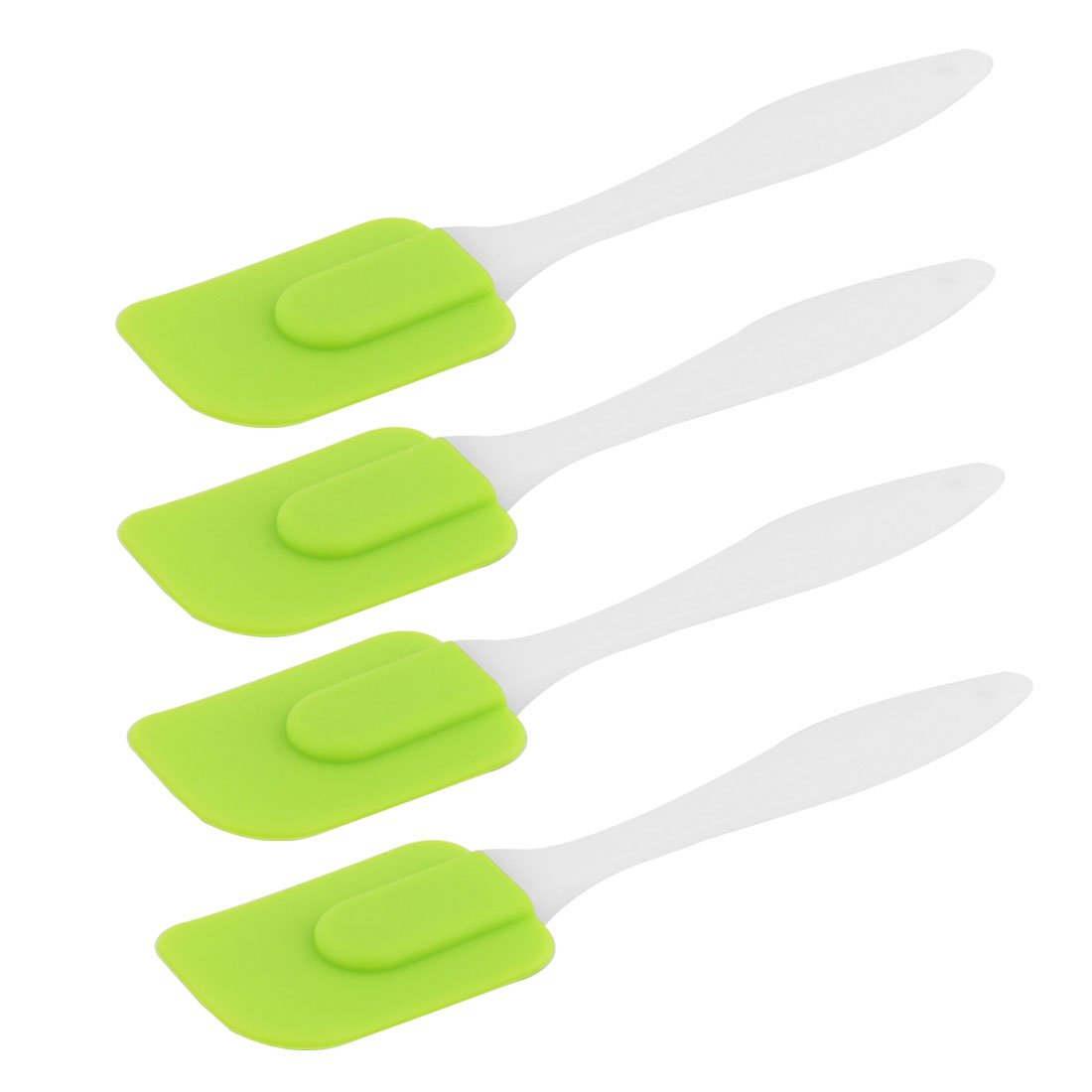 uxcell Silicone Head Plastic Handle Kitchen Heat Resistant Nonstick Spatula Scraper 4 PCS Green by uxcell