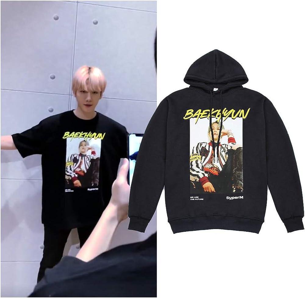 Dolpind Kpop SuperM Hoodie Baekhyun Taemin Taeyong Kai Mark Lucas Signature Sweatshirt Merchandise