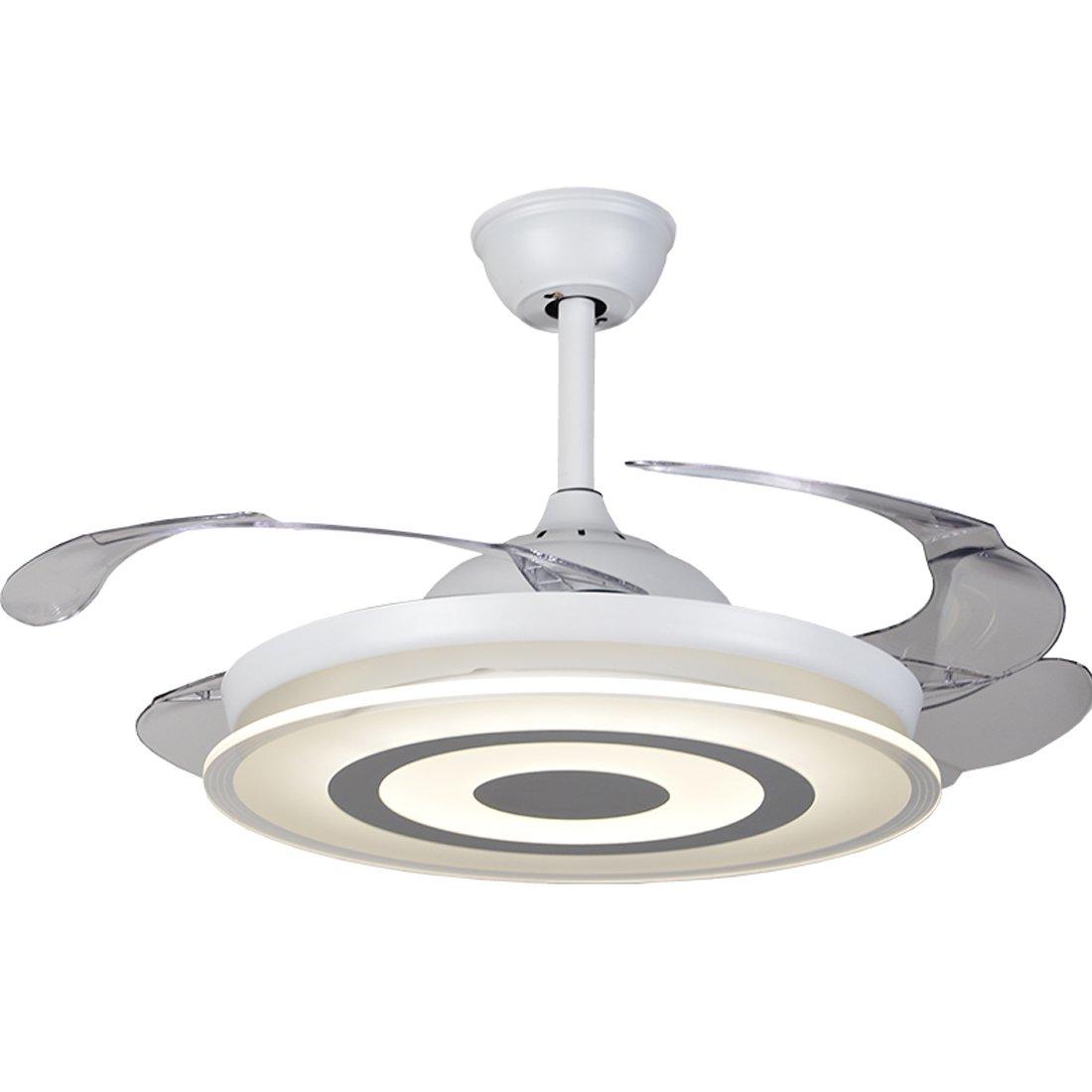42-in Ultra-Thin Stealth Ceiling Fan Light Living Room Restaurant Scandinavian Simple Low Floor Fan Chandelier Bedroom LED Fan Light