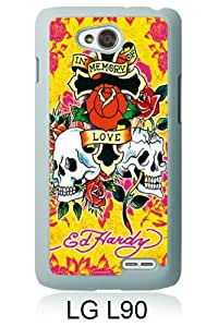 Unique LG L90 Case ,Hot Sale And Popular Designed Case With Ed Hardy 21 White LG L90 Cover Phone Case