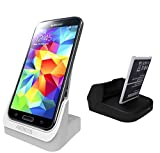AEDILYS® 2nd battery slot USB desktop charger docking station for Samsung Galaxy Note3 N9006 £¨White£©(Without Battery)