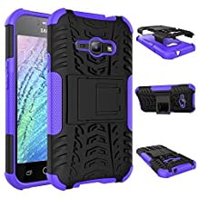 Samsung Galaxy J1 Ace Case, Galaxy J1 Ace Cover, Dual Layer Protection Shockproof Cover Hybrid Rugged Case Hard Shell Cover with Kickstand for 4.3'' Samsung Galaxy J1 Ace J110
