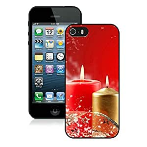 Customization Iphone 5S Protective Case Merry Christmas iPhone 5 5S TPU Case 88 Black