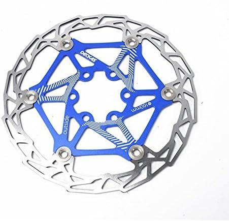 ロードバイクディスク ほとんどの自転車ロードバイクマウンテンバイクBMX MTB用160mmフローティングディスクブレーキローター6ボルトアルミ合金バイクディスクブレーキローター (色 : 青)