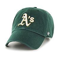 Sombrero ajustable de limpieza MLB Oakland Athletics '47, verde oscuro, talla única