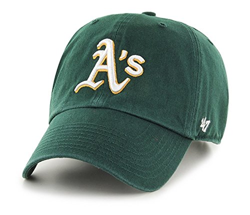 MLB Oakland Athletics '47 Clean Up Adjustable Hat, Dark Green, One Size