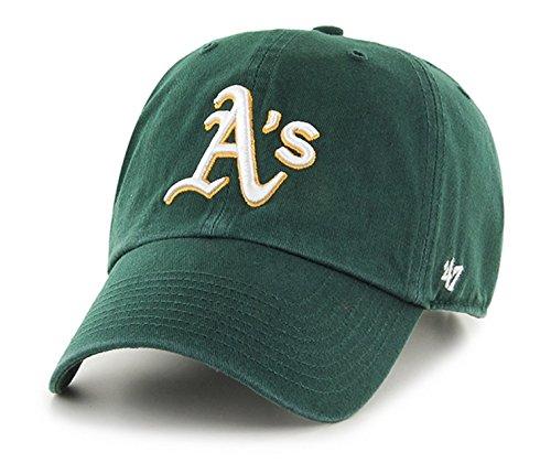 MLB Oakland Athletics '47 Clean Up Adjustable Hat, Dark Green, One - Hat Team