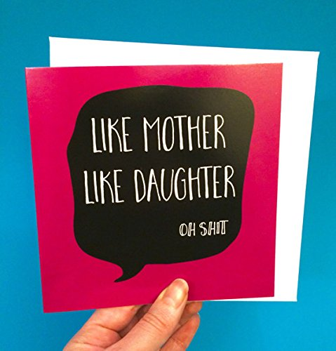 Amazon funny mothers day card mature adult greeting card for funny mothers day card mature adult greeting card for mom like mother like daughter m4hsunfo