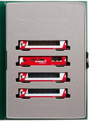 Alps Glacier Express (Add-On 4-Car Set) (Model Train) by Kato (Four Glacier)