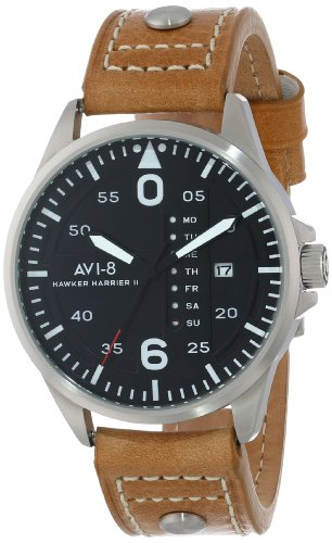 AVI-8 Men's AV-4003-02 Hawker Harrier II Analog Japanese-Quartz Brown Watch