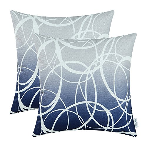 blue and gray throw pillows. Black Bedroom Furniture Sets. Home Design Ideas
