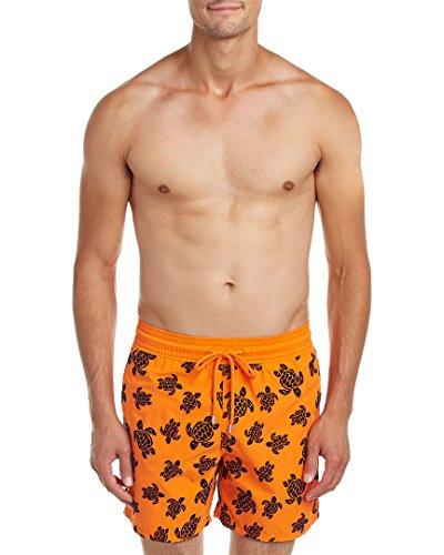 Vilebrequin Mens Moorea Swim Trunk, L, Orange