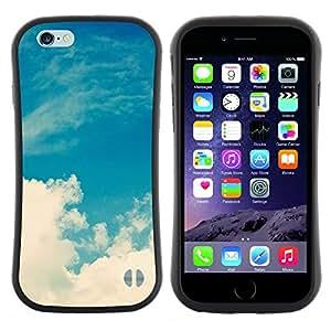 "Pulsar iFace Series Tpu silicona Carcasa Funda Case para Apple (4.7 inches!!!) iPhone 6 / 6S (4.7 INCH) , Nubes Blancas naturaleza Cielo Dios"""