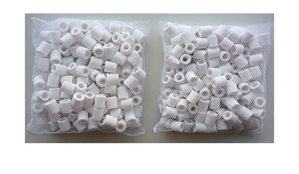 Anillos de filtrado de cerámica 1000 g (1kg) biológica filtro Medios de comunicación en bolsas para filtros de estanques/acuarios: Amazon.es: Productos para ...