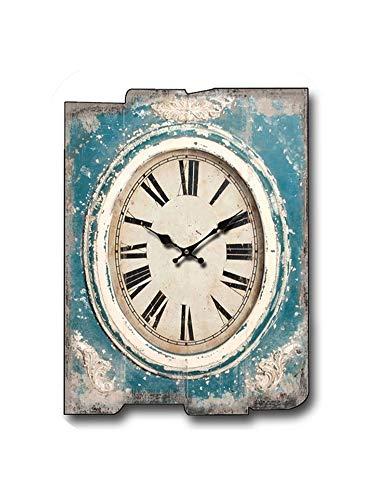 Wenzi-day Wooden Wall Clock Relogio De Parede Living Room Decorated Clock Retro Creative Home Decoration Watch,30cmX40cm3