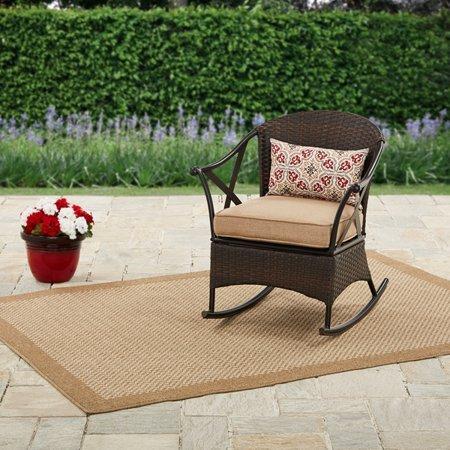 Mainstays- Skylar Glen Outdoor Rocking Chair, Tan, Seats 1 by Mainstays-
