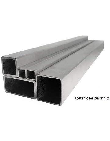 Aluminium Alu Quadrat 2000mm Alu Rechteckrohr Alu Vierkantrohr Länge 500mm