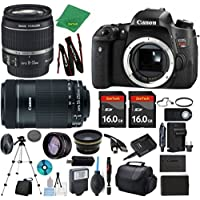 Canon Rebel T6s Camera + 18-55mm IS STM + 55-250mm STM + 2pcs 16GB Memory + Case + Memory Reader + Tripod + ZeeTech Starter Set + Wide Angle + Tele + Flash + Battery + Charger