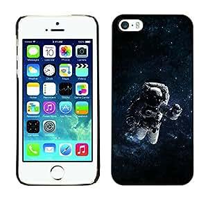 EJOY---Cubierta de la caja de protección la piel dura para el / iPhone 5 / 5S / --Espacio psicodélico Astronauta