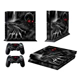 Skins for PS4 Playstation 4 Games Decals Stickers for Sony PS4 Games PS4 Controller Skin for PS4 Accessories Sticker for PS4 Console and Two Dualshock 4 Remote Play Vinyl Decal Dark Skull