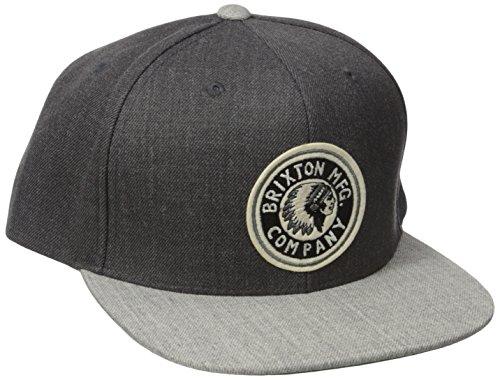 9e277e9f5a6d6 Brixton Men s Rival Medium Profile Adjustable Snapback Hat