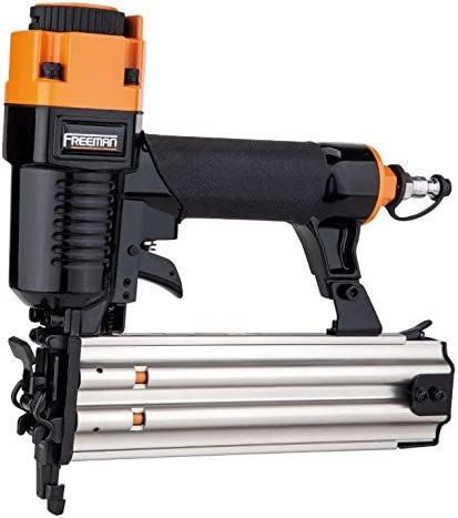 "Freeman PBR50Q Pneumatic 18-Gauge 2"" Brad Nailer with Quick Jam Release Lightweight and Ergonomic Nail Gun for Moulding, Baseboard, Handrails, Door, and Window Installation"