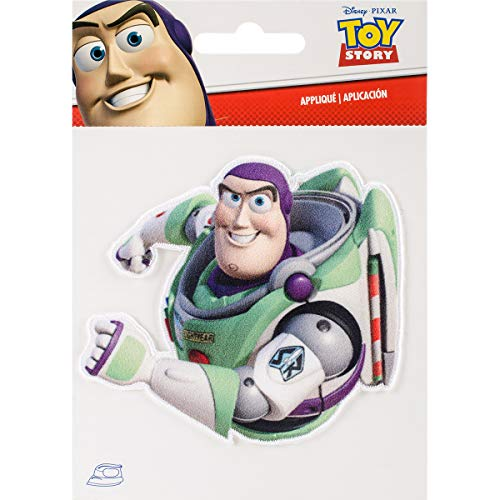 Wrights 193 1194 Disney Toy Story Iron-On Applique, Buzz - Patch Buzz Lightyear