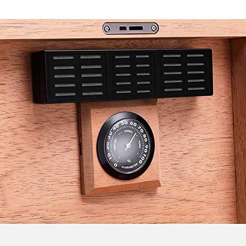 Jian E - (cigar box) - Cigar moisturizing alcoholized Box European Retro Printing Cedar Solid Wood Large Capacity by Jian E - (cigar box) (Image #6)