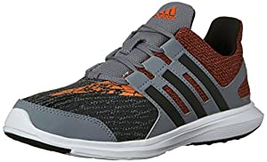 adidas Performance Boys' Hyperfast 2.0 k Running Shoe, Grey/Black/Orange, 11.5 M US Little Kid
