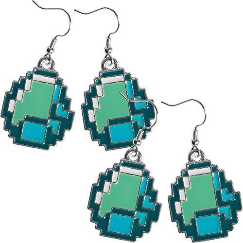 JINX Minecraft Diamond Ore Pendant Earrings (2 Pack) -  799637976344