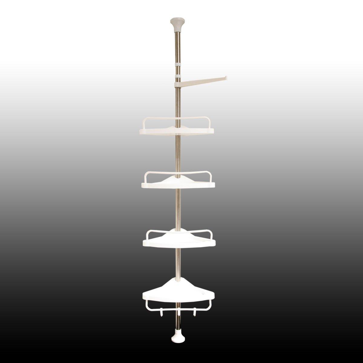 Mensola doccia scaffale per il bagno doccia con asta telescopica ...