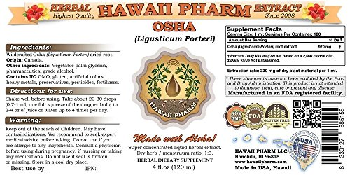Osha Liquid Extract, Osha (Ligusticum porteri) Tincture 2x32 oz by HawaiiPharm (Image #1)