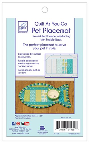 - JUNMN Quilt As You Go Cat Pattern Pet Placemat 12